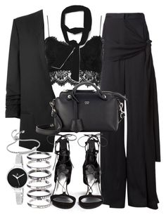 """""""Untitled #19097"""" by florencia95 ❤ liked on Polyvore featuring Lanvin, Topshop, Zara, Helmut Lang, Fendi, Stuart Weitzman, M.N.G, Monica Vinader and Christian Van Sant"""