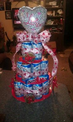 Beer cake for the hubby. Best gift ever he said :)