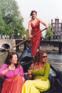 Gondola boats on the canal? Amsterdam is truly the Venice of the north!