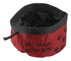 Uxcell Camping Pet Dog Cat Puppy Folded Water Dish Bowl, Black *** See this great product. (This is an affiliate link and I receive a commission for the sales) #Dogs