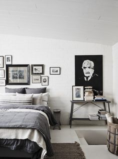 White and grey bedroom design