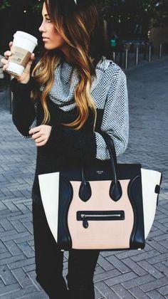 #street #style / knit + Celine bag