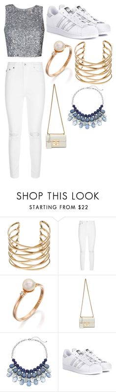 """""""I must forget about him"""" by gineskaplaza on Polyvore featuring moda, AG Adriano Goldschmied, Gucci y adidas Originals"""