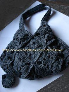Bossa amb patrons  Detalls a mà Crochet