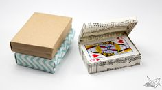 Custom Size Hinged Origami Box – Playing Cards Box
