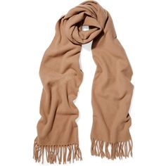 Acne Studios Canada Narrow wool scarf (€140) ❤ liked on Polyvore featuring  accessories, scarves, camel, woolen shawl, woolen scarves, acne studios, ... f38aa0c9ace