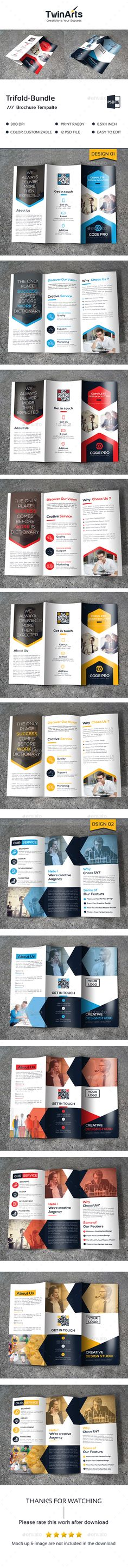 2 Tri-fold Brochure Templates PSD. Download here: http://graphicriver.net/item/trifold-bundle_2-in-1/16899953?ref=ksioks