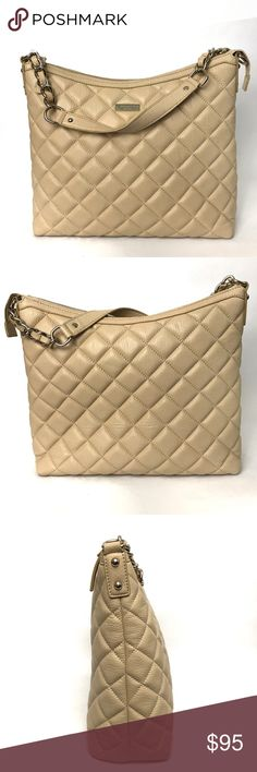 ea52e51f89dd {Kate Spade} Gold Coast Serena Leather Bag Classic quilted leather bag with  gold chainlink