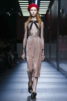 """""""It is not very easy to try to do something different,"""" said Gucci's new creative director Alessandro Michele backstage after his first womenswear show for the house. Considering that he has worked..."""