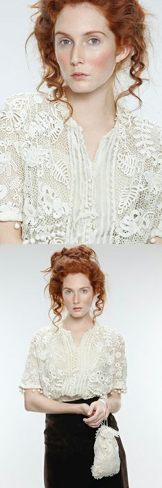 Irish Crochet - Seen on Pinterest, loved and repined by Craftseller.com.