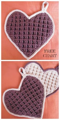crochet for money Waffle Stitch Dishcloth Free Crochet Patterns Crochet Sheep, Crochet Bib, Crochet Hot Pads, Crochet Ripple, Free Crochet, Crochet Potholder Patterns, Crochet Diagram, Crochet Heart Patterns, Drops Design