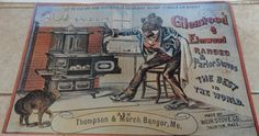 Vintage Reproduction 1900s Glenwood N Elmwood by tennesseehills, $20.00 Antique Pictures, Kittens, Cats, Vintage Black, Tennessee, Biscuits, Oven, Collections, Baseball Cards