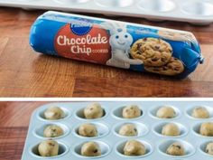 If You Have a Tube of Pre-Made Refrigerated Cookie Dough, You Can Make These 20 Amazing Desserts Pillsbury Sugar Cookie Dough, Refrigerated Cookie Dough, Chocolate Chip Recipes, Chocolate Chip Cookie Dough, Chocolate Cookies, Cookie Dough Store, Cookie Dough Desserts, Cookie Dough Cake, Desert Recipes