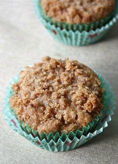 Graham Flour Apple Coffee Cake Muffins