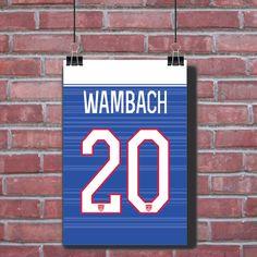 Abby Wambach USA Jersey Poster USA Soccer USWNT by 317socks