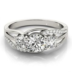STYLE# 83825-1 - Round - 3 stone - Engagement Rings