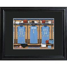 College Basketball Locker Room Print  Free Personalization  www.GiftsEngraved.net