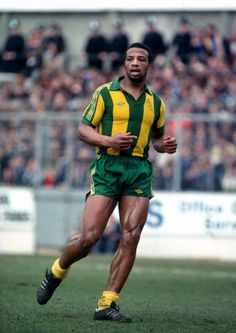 Cyrille Regis of West Brom in Football Icon, Retro Football, Football Art, Football Boots, Football Jerseys, Football Players, West Brom Wallpaper, West Bromwich Albion Fc
