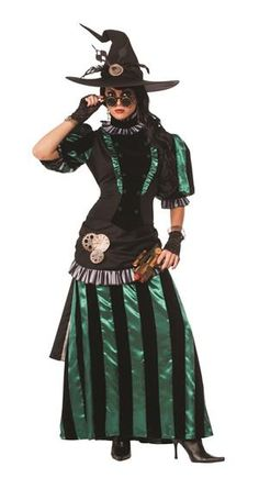 The Wizard of Oz Wicked Witch of The West Steampunk Womens Costume Wicked Witch Costume, Witch Costumes, Cosplay Costumes, Halloween Costumes, Adult Halloween, Steampunk Witch, Steampunk Costume, Fairy Tale Costumes, Fantasy Witch