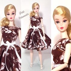 New Brown Floral Elegance Day Dress now available on Ebay!  Link in bio. #barbie #barbies #barbiecollector #barbiedoll #barbiegirl #barbiestyle #barbiecollection #barbiegram #barbielook #barbiecollectors #silkstone #silkstonebarbie #instadoll #dollcollector #petitvetements #daydress