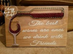 Wine String art sign by Strung from the Heart