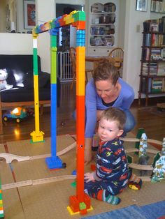 Lego towers and spiral mountain trains
