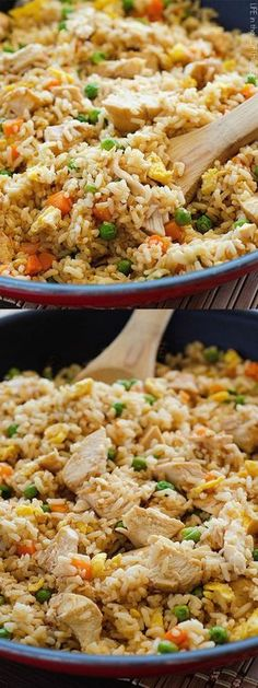 Low Unwanted Fat Cooking For Weightloss Chicken Fried Rice Better Than Takeout And So Easy To Make Rice Recipes, Asian Recipes, New Recipes, Chicken Recipes, Dinner Recipes, Cooking Recipes, Favorite Recipes, Healthy Recipes, Vegetarian Recipes