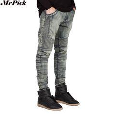 21.90$  Watch now - http://alipvz.shopchina.info/go.php?t=32665549000 - 2016 Men Jeans Biker Jeans Hiphop Skinny Jeans For Men Denim Fashion Jeans Q6505 21.90$ #buymethat