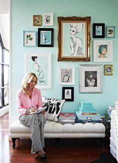 {tiffany's chic} #gallery wall #megan hess