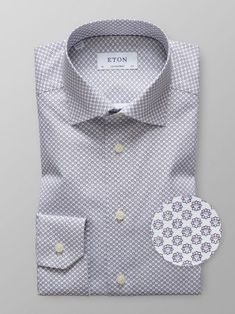 Woven with a fine micro floral pattern this versatile style is perfect for any occasion. We suggest wearing it with a bold paisley tie, a tone-in-tone pocket square and a trim suit for a contemporary business outfit. Business Outfits, Business Casual, Stylish Men, Men Casual, Paisley Tie, Useful Life Hacks, Workout Shirts, Cool Shirts, Shirt Dress