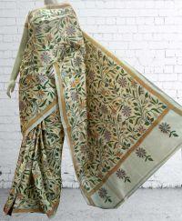 buy Nakshi Kantha Tussar Saree online at fashionventuresportal.com