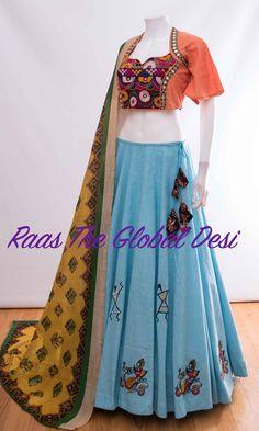 CHANIYA Silk Chania with designer brocade blouse and contrast dupatta Lehenga Gown, Lehenga Choli Online, Bridal Lehenga, Indian Dresses, Indian Outfits, Indian Clothes, Choli Designs, Blouse Designs, Abaya Fashion