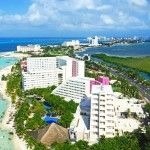 The Mexican Caribbean: a view of the hotel zone in Cancun