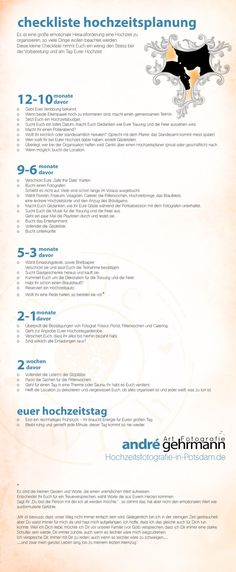 Checkliste Hochzeit 12 Monate davor  Es ist eine große emotionale Herausforderung eine Hochzeit zu organisieren. so viele Dinge wollen beachtet werden. Diese kleine Checkliste nimmt Euch ein wenig den Stress bei der Vorbereitung und am Tag Eurer Hochzeit. Ihr habt die Möglichkeit Euch diese kleine Checkliste als PDF herunter zu laden. Unter dem Bild findet Ihr den Downloadlink. Vielleicht hilft …