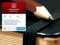 Twitter Bio, Social Media Tips, Helpful Hints, Fitbit, Presentation, Useful Tips, Handy Tips