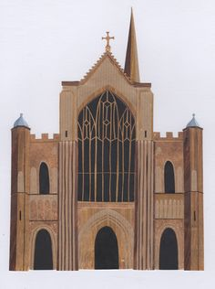 Norwich Cathedral.   Stacey Knights Illustration