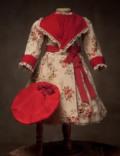 Antique doll dress has been re-sold on the Thuillier doll Antique dolls at Respectfulbear.com