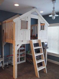 kids bunk bed fort