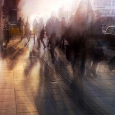 Blurry morning in the City ! By Peter Tandlund. Movement Photography, Exposure Photography, Urban Photography, Creative Photography, Street Photography People, Shutter Speed Photography, Photography Ideas, Multiple Exposure, Double Exposure