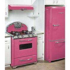 Pink appliance.