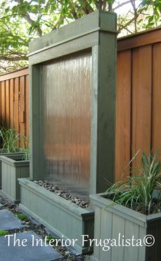diy patio water wall, diy, outdoor living, patio, ponds water features, woodworking projects