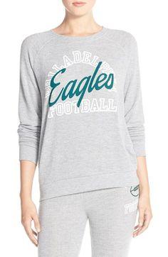 Junk Food 'Eagles Football' Pullover Sweatshirt