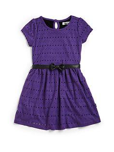 DKNY - Little Girl's Laser Cut Dress - Saks.com