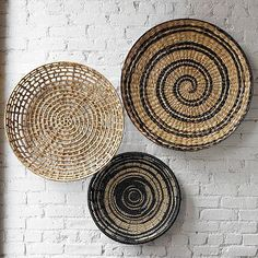 Basket wall art prissy design woven small home decoration ideas stickers round decor large flat w Home Decor Baskets, Basket Decoration, Baskets On Wall, Wall Basket, Woven Baskets, Basket Gift, Hanging Baskets, Room Wall Decor, Home Decor Wall Art
