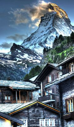 Matterhorn from Zermatt Switzerland