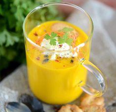 Velouté de carottes au Brillat-Savarin #fromage #soupe #recette #gastronomie