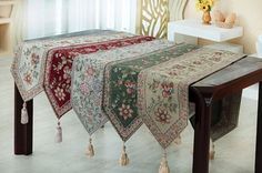 JURO table mats a table for four table mats  Jacquard Runner #JURO