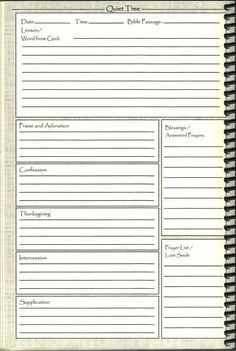 Personal Journal Template. daily journal template daily log ideas ...