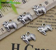 10//50pcs Retro alloy pendant little Elephant handmade alloy accessories 13X11mm