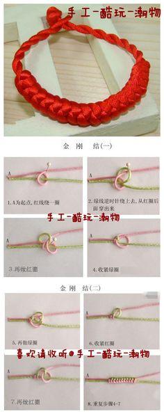 DIY Diamond Knot Bracelet